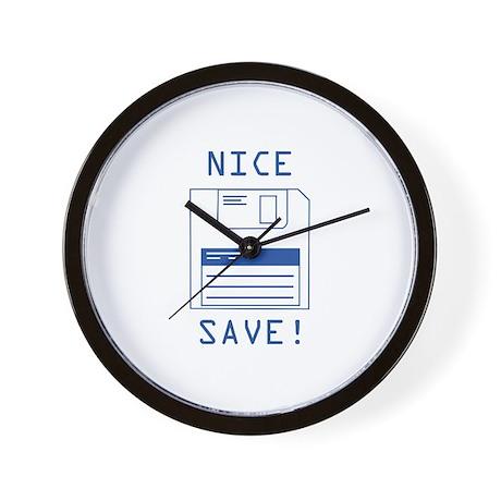 Nice Save! Wall Clock