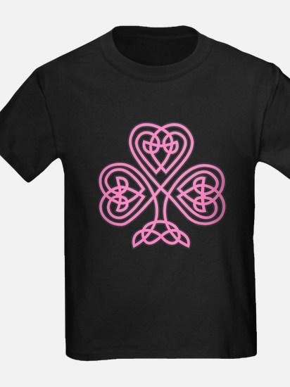 Pink Celtic Shamrock T