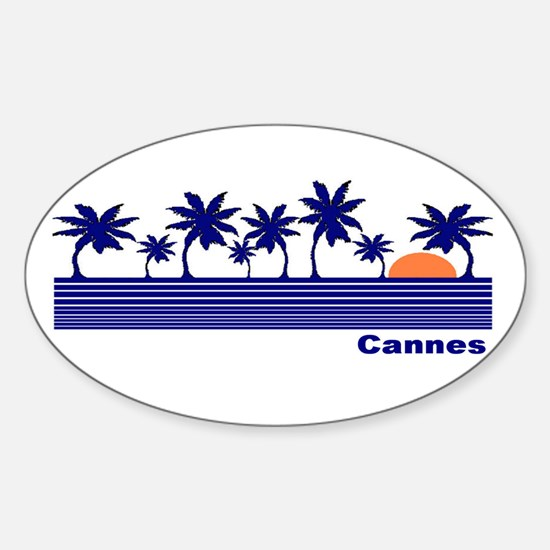 Cannes, France Oval Decal
