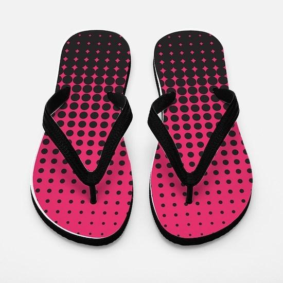 Halftone Dots Flip Flops