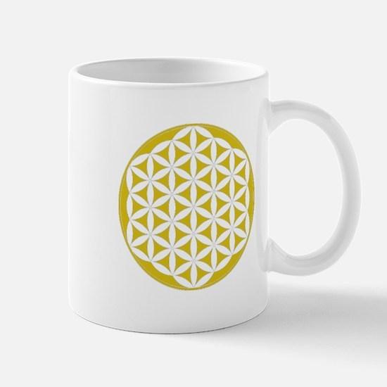 Flower of Life Gold Mug