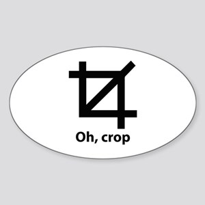 Oh, crop Sticker (Oval)