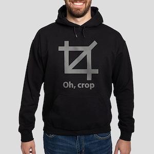 Oh, crop Hoodie (dark)