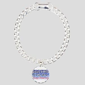 Navy Veteran Hero Charm Bracelet, One Charm