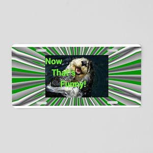Funny Otter Aluminum License Plate