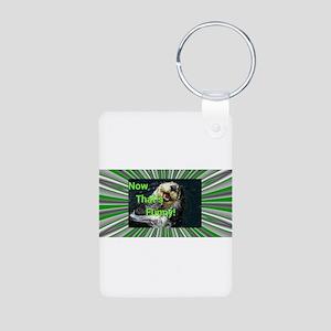 Funny Otter Aluminum Photo Keychain