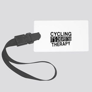 Awesome Cycling Player Designs Large Luggage Tag