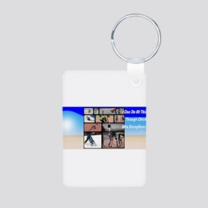All Things Possible Aluminum Photo Keychain