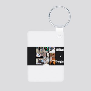Attitude Aluminum Photo Keychain