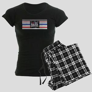 I Love My Police Officer Women's Dark Pajamas