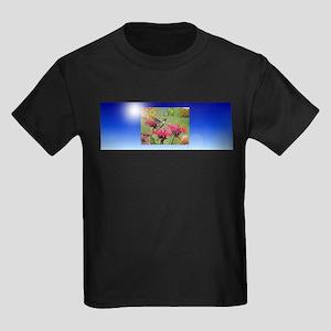 Hummingbird Flowers Kids Dark T-Shirt