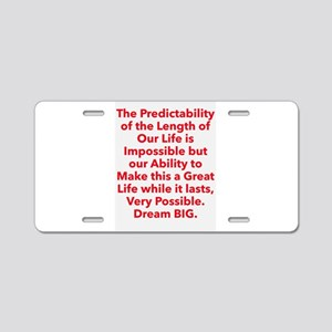 Great Life Aluminum License Plate
