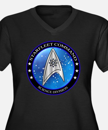 Starfleet Co Women's Plus Size V-Neck Dark T-Shirt