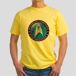 Starfleet Command Unit Operations D Yellow T-Shirt