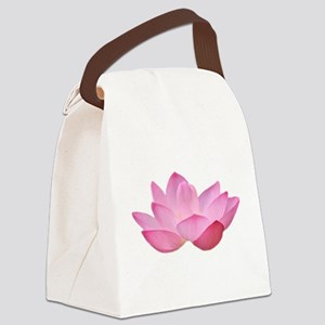Pink Lotus Canvas Lunch Bag
