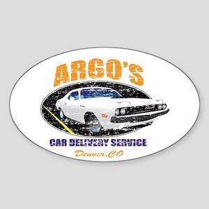 Argo's Car Delivery Sticker