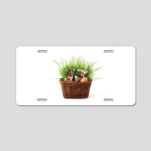 Easter Chihuahua puppies Aluminum License Plate