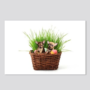 Easter Chihuahua puppies Postcards (Package of 8)