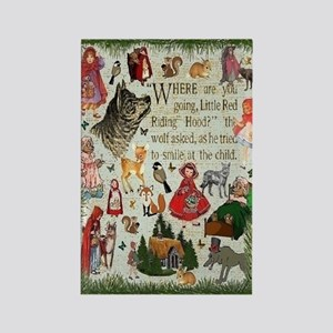 Red Riding Hood Rectangle Magnet