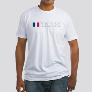 France Flag (Dark) Fitted T-Shirt