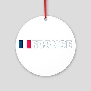 France Flag (Dark) Ornament (Round)