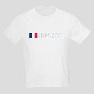 France Flag (Dark) Kids Light T-Shirt