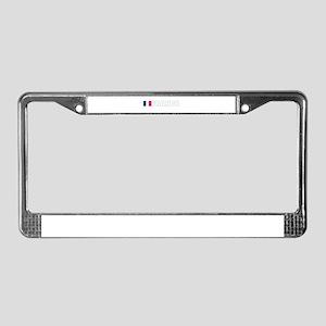 France Flag (Dark) License Plate Frame