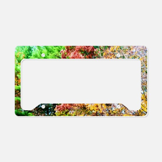 3 colors of the nature License Plate Holder