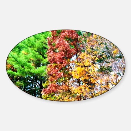 3 colors of the nature Sticker (Oval)