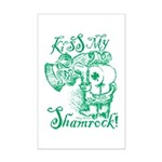 St. Patricks Day Leprechaun Kiss Mini Poster Print