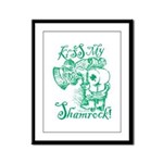 St. Patricks Day Leprechaun Kis Framed Panel Print