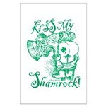 St. Patricks Day Leprechaun Kiss My Large Poster