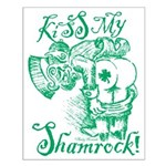 St. Patricks Day Leprechaun Kiss My S Small Poster