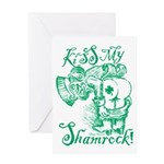 St. Patricks Day Leprechaun Kiss My Greeting Card