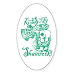 St. Patricks Day Leprechaun Kiss My Sticker (Oval)