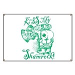 St. Patricks Day Leprechaun Kiss My Banner