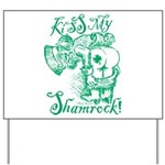 St. Patricks Day Leprechaun Kiss My Yard Sign