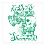 St. Patricks Day Leprech Square Car Magnet 3