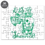 St. Patricks Day Leprechaun Kiss My Puzzle