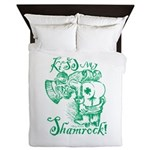 St. Patricks Day Leprechaun Kiss My Queen Duvet