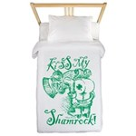 St. Patricks Day Leprechaun Kiss My Twin Duvet