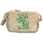 St. Patricks Day Leprechaun Kiss My Messenger Bag