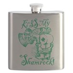 St. Patricks Day Leprechaun Kiss My Flask