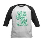 St. Patricks Day Leprechaun K Kids Baseball Jersey