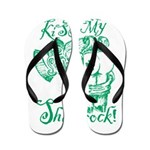 St. Patricks Day Leprechaun Kiss My Flip Flops