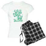 St. Patricks Day Leprechaun Women's Light Pajamas