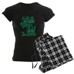 St. Patricks Day Leprechaun Women's Dark Pajamas
