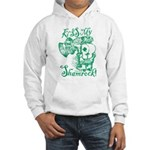 St. Patricks Day Leprechaun Kiss Hooded Sweatshirt