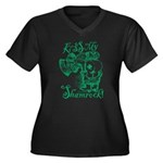 St. Patricks Women's Plus Size V-Neck Dark T-Shirt