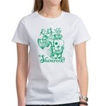 St. Patricks Day Leprechaun Kiss M Women's T-Shirt